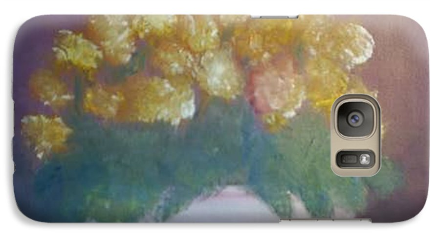 Marigolds Galaxy S7 Case featuring the painting Marigolds by Sheila Mashaw