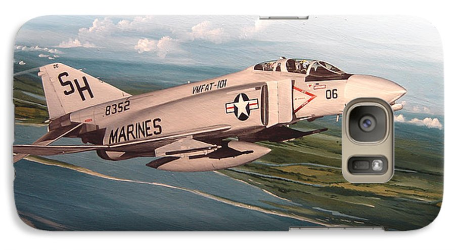 Aviation Galaxy S7 Case featuring the painting Marine Phantom by Marc Stewart