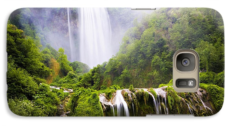 Italy Galaxy S7 Case featuring the photograph Marmore Waterfalls Italy by Marilyn Hunt