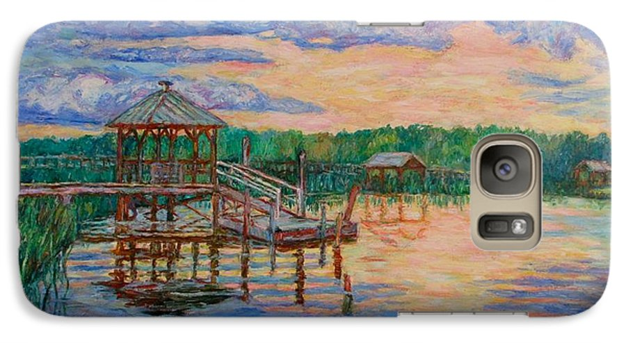 Landscape Galaxy S7 Case featuring the painting Marsh View At Pawleys Island by Kendall Kessler
