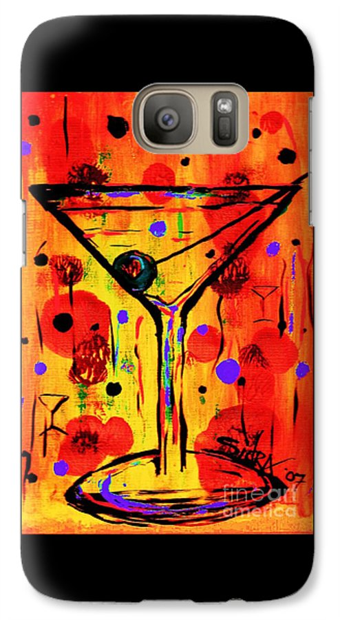 Martini Galaxy S7 Case featuring the painting Martini Twentyfive Of Sidzart Pop Art Collection by Sidra Myers