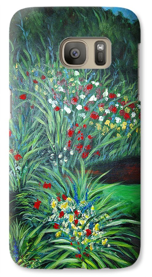 Landscape Galaxy S7 Case featuring the painting Maryann's Garden 3 by Nancy Mueller