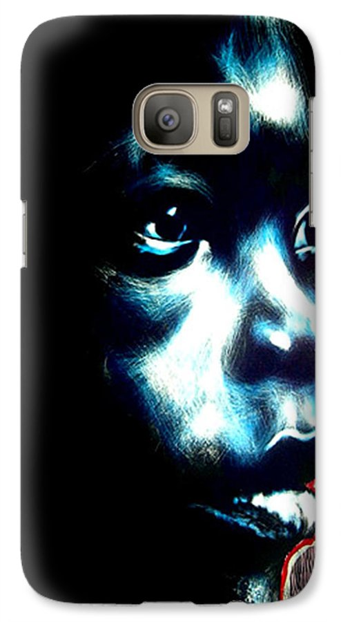 Galaxy S7 Case featuring the mixed media Master Blue by Chester Elmore