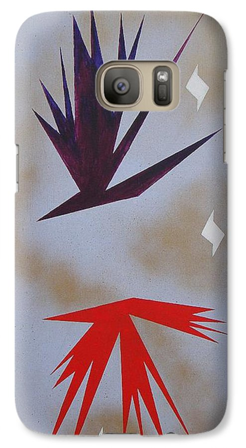 Birds Galaxy S7 Case featuring the painting Mating Ritual by J R Seymour