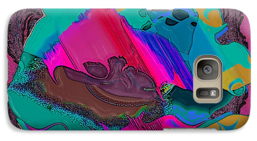 Ebsq Galaxy S7 Case featuring the digital art Mauve Abstract by Dee Flouton