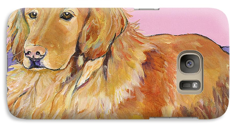 Golden Retriever Galaxy S7 Case featuring the painting Maya by Pat Saunders-White