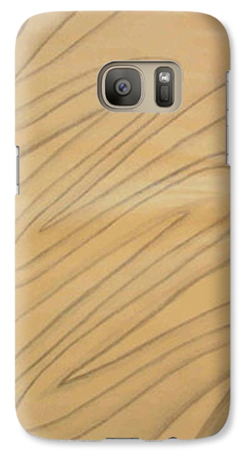 Abstract Galaxy S7 Case featuring the drawing Maze Of Life Drawing by Natalee Parochka