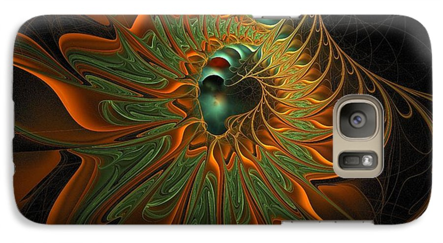 Digital Art Galaxy S7 Case featuring the digital art Meandering by Amanda Moore