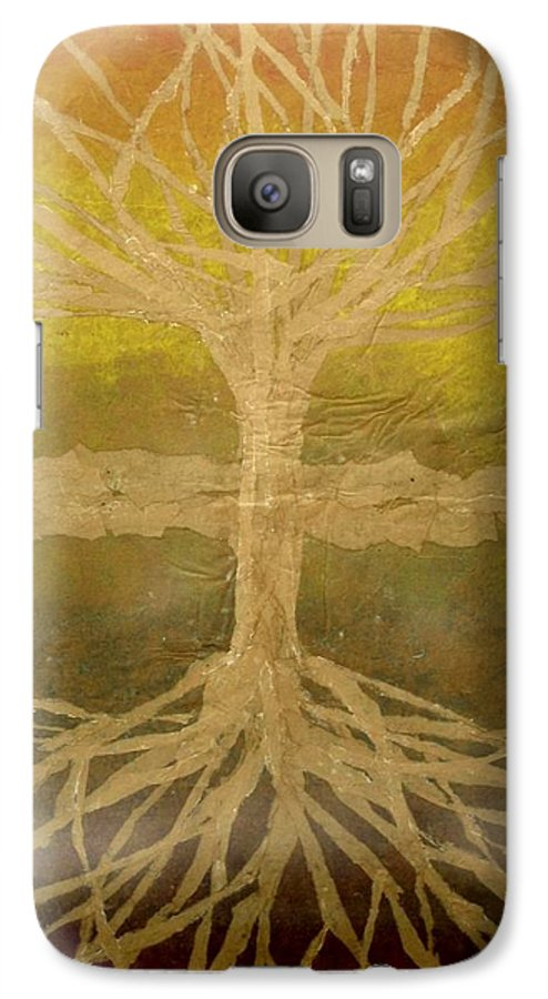 Abstract Galaxy S7 Case featuring the painting Meditation by Leah Tomaino