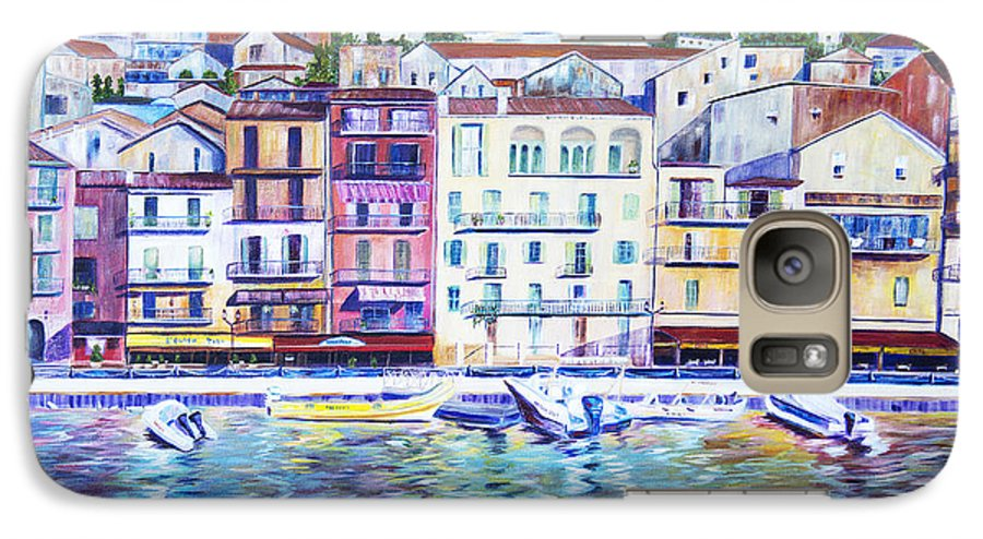 France Galaxy S7 Case featuring the painting Mediterranean Morning by JoAnn DePolo
