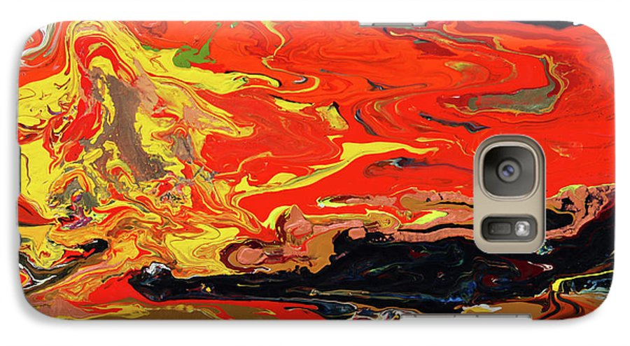 Fusionart Galaxy S7 Case featuring the painting Melt by Ralph White