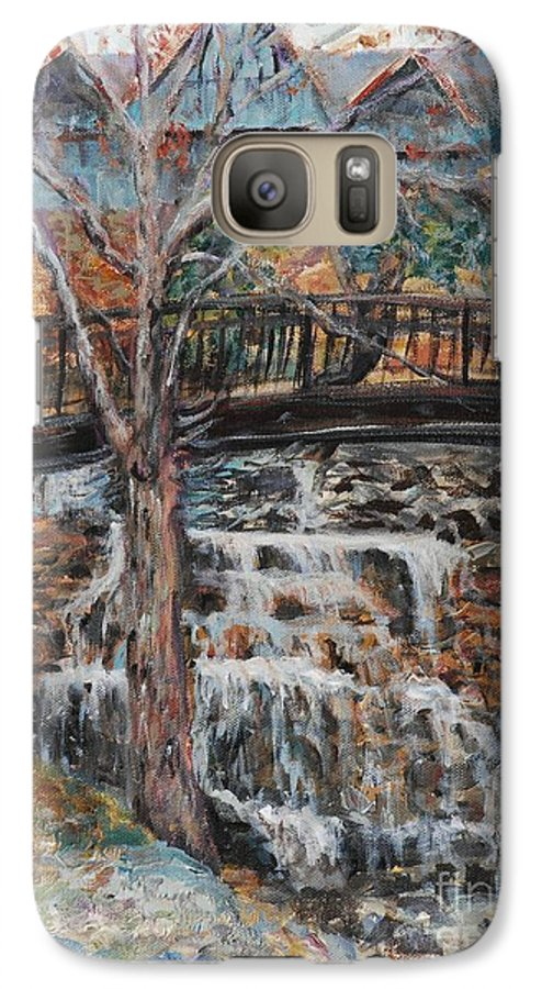 Waterfalls Galaxy S7 Case featuring the painting Memories by Nadine Rippelmeyer