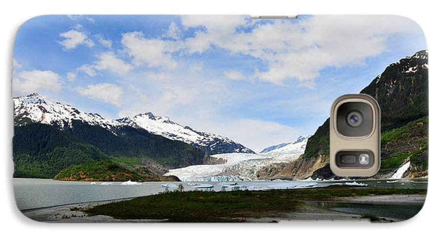 Mendenhall Galaxy S7 Case featuring the photograph Mendenhall Glacier by Keith Gondron