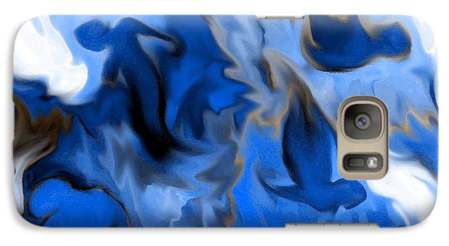 Mermaids Galaxy S7 Case featuring the digital art Mermaids by Shelley Jones
