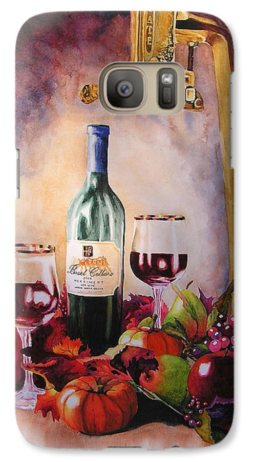 Wine Galaxy S7 Case featuring the painting Merriment by Karen Stark