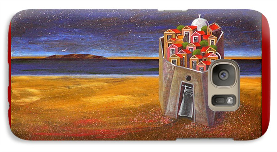 Superrealism Galaxy S7 Case featuring the painting Mesi Castle Village by Dimitris Milionis