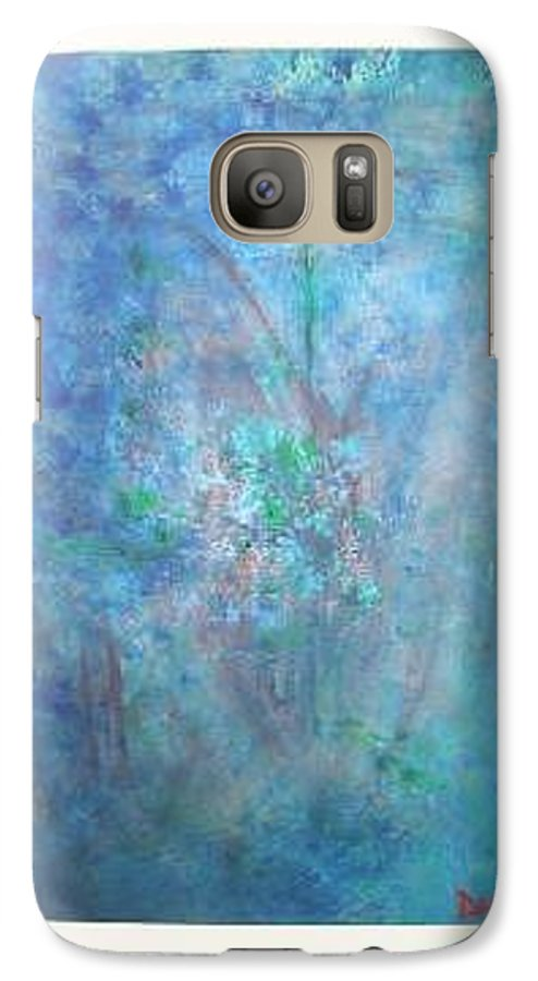 Metal Galaxy S7 Case featuring the painting Metal And Water Abstract. by Lizzy Forrester