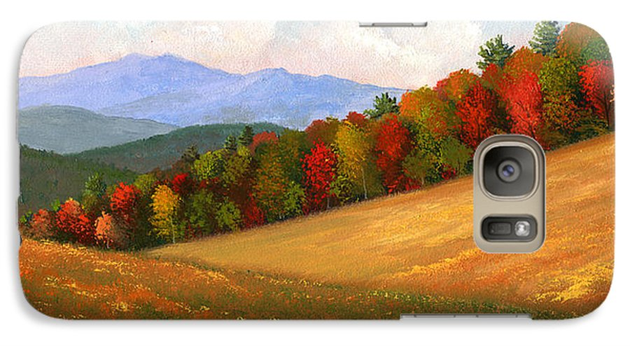 Landscape Galaxy S7 Case featuring the painting Mid Autumn by Frank Wilson