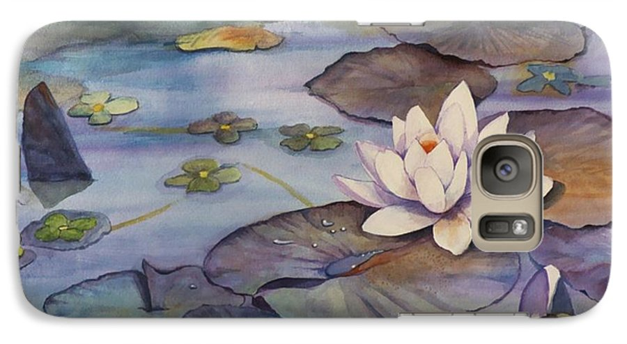 Lily Galaxy S7 Case featuring the painting Midnight Lily by Jun Jamosmos