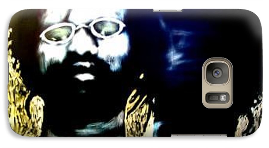 Life Commentary Galaxy S7 Case featuring the mixed media Midway We Meet by Chester Elmore