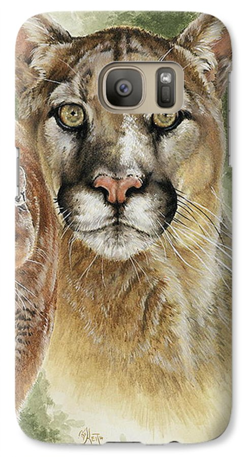 Cougar Galaxy S7 Case featuring the mixed media Mighty by Barbara Keith