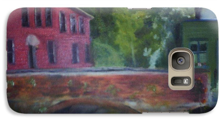 Mill Street Galaxy S7 Case featuring the painting Mill Street Plein Aire by Sheila Mashaw