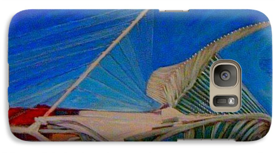 Mam Galaxy S7 Case featuring the mixed media Milwaukee Art Museum by Anita Burgermeister
