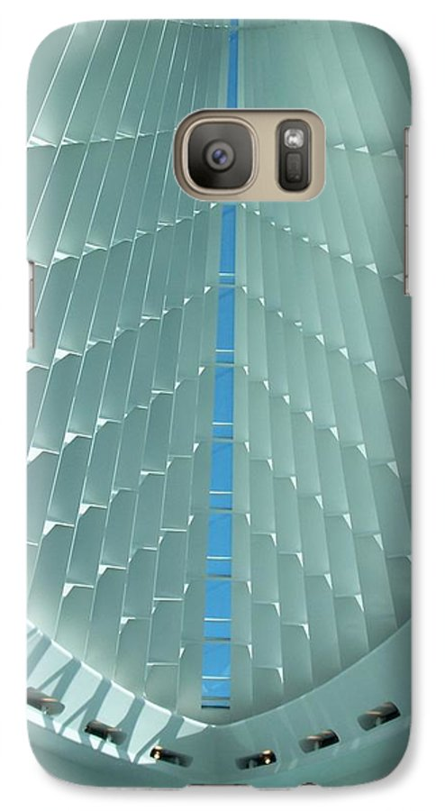 Mam Galaxy S7 Case featuring the photograph Milwaukee Art Museum Interior by Anita Burgermeister