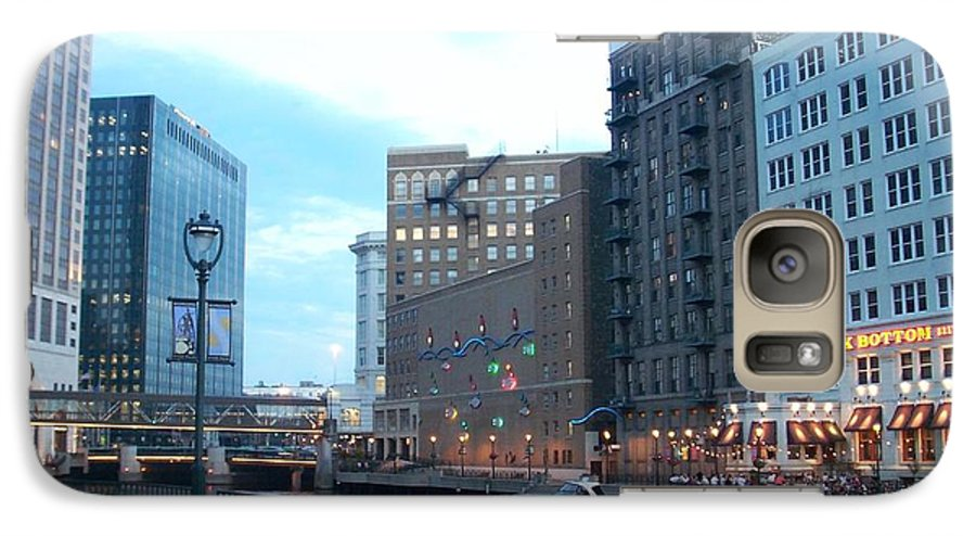 Milwaukee Galaxy S7 Case featuring the photograph Milwaukee River Walk by Anita Burgermeister
