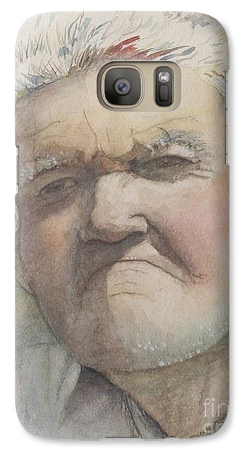 Portrait Galaxy S7 Case featuring the painting Minnesota Farmer by Nadine Rippelmeyer