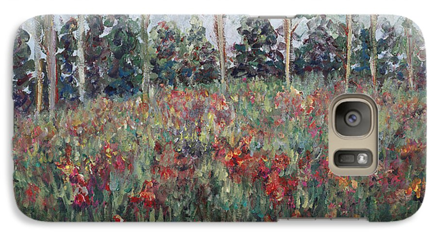 Landscape Galaxy S7 Case featuring the painting Minnesota Wildflowers by Nadine Rippelmeyer