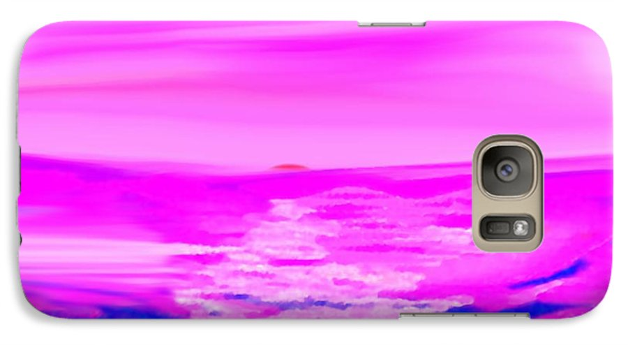 Sunset Galaxy S7 Case featuring the digital art Miracle Sunset-sun And Sky In One Dance by Dr Loifer Vladimir