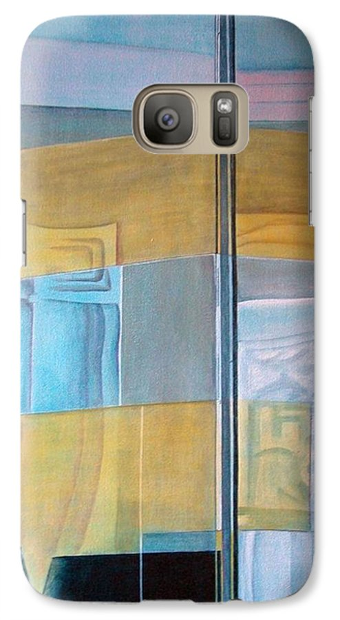 Miroir Galaxy S7 Case featuring the painting Miroir by Muriel Dolemieux