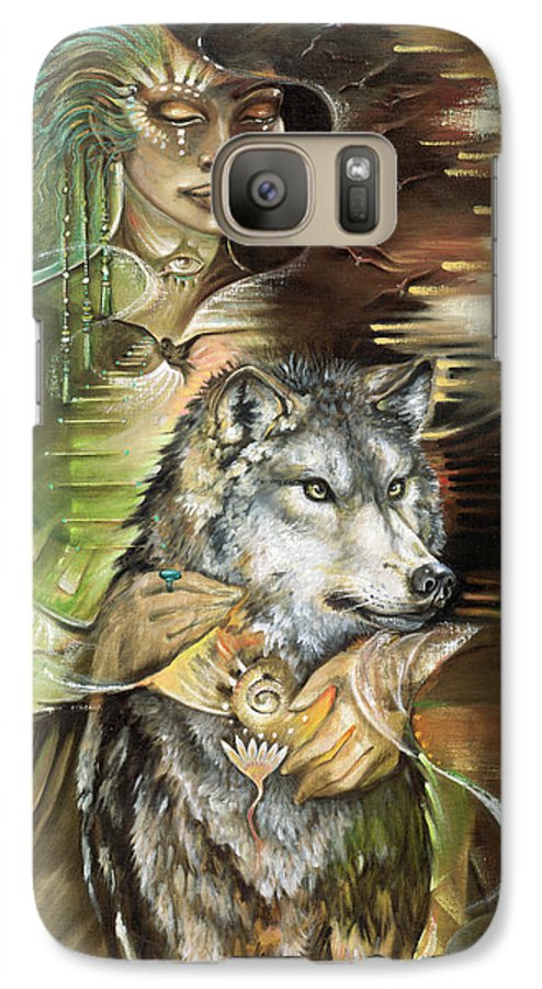 Animals Galaxy S7 Case featuring the painting Missing You Susan Boulet by Blaze Warrender
