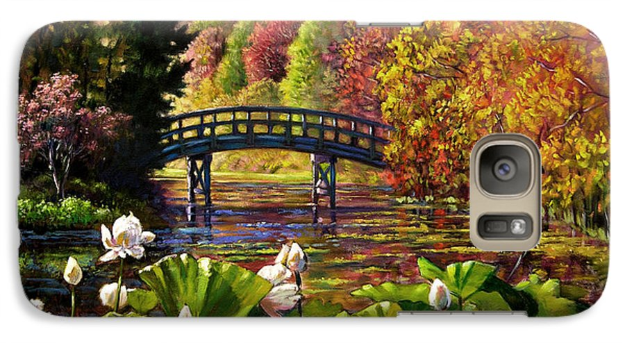 Landscape Galaxy S7 Case featuring the painting Missouri Memories by John Lautermilch