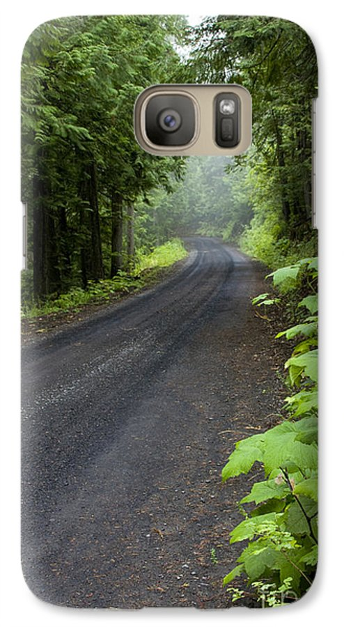 Road Galaxy S7 Case featuring the photograph Misty Mountain Road by Idaho Scenic Images Linda Lantzy