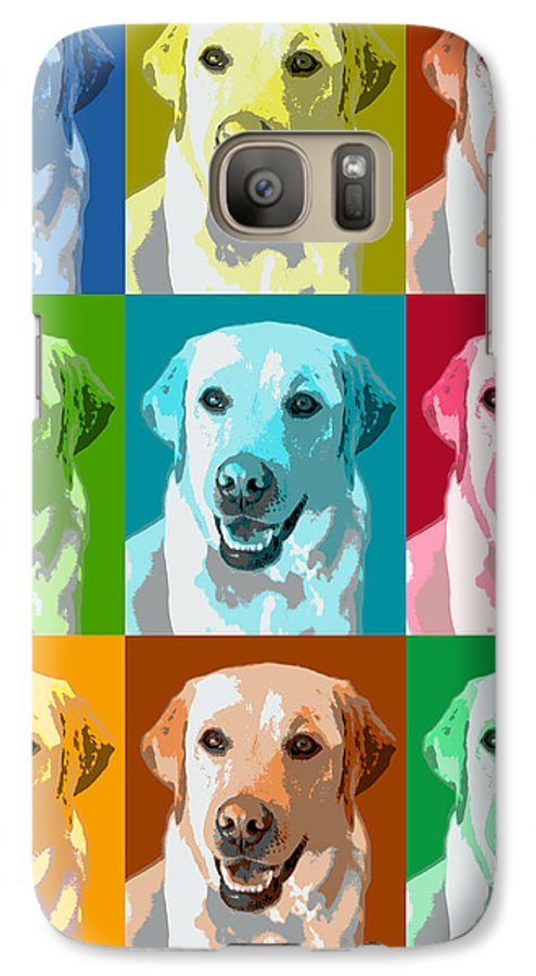 Americana Galaxy S7 Case featuring the photograph Golden Retriever Warhol by Marilyn Hunt
