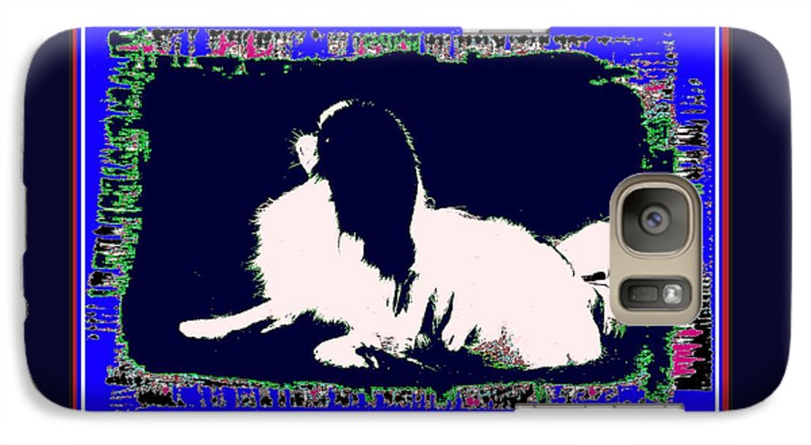 Mod Dog Galaxy S7 Case featuring the digital art Mod Dog by Kathleen Sepulveda