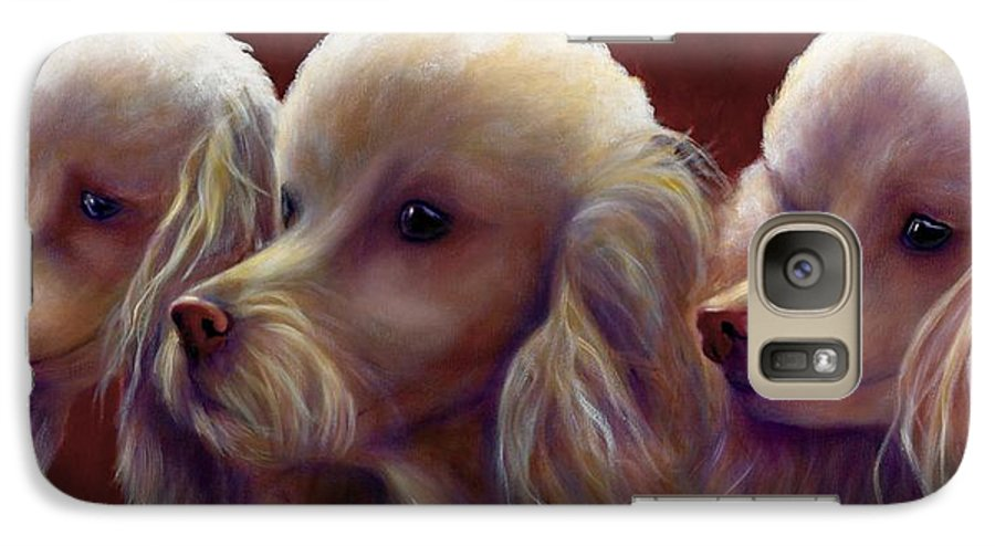 Dogs Galaxy S7 Case featuring the painting Molly Charlie And Abby by Shannon Grissom
