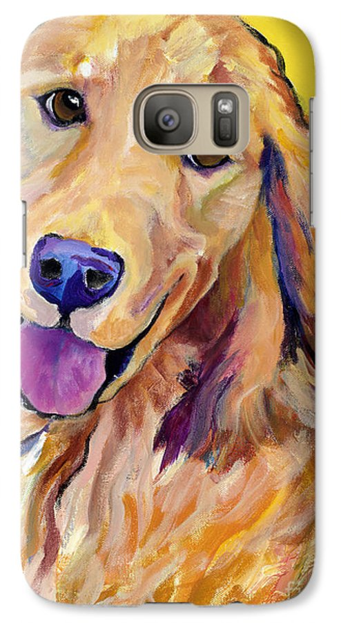 Acrylic Paintings Galaxy S7 Case featuring the painting Molly by Pat Saunders-White