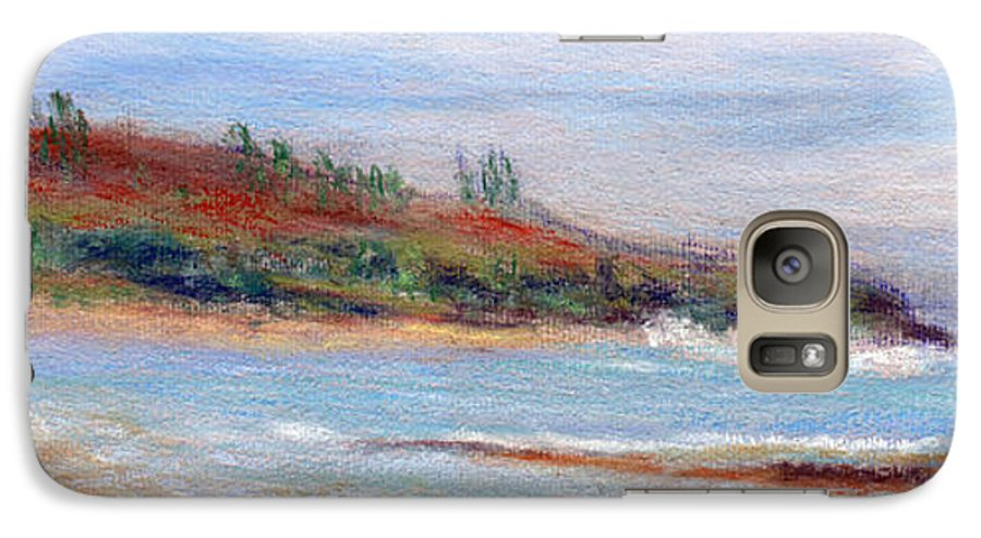 Coastal Decor Galaxy S7 Case featuring the painting Moloa'a Beach by Kenneth Grzesik