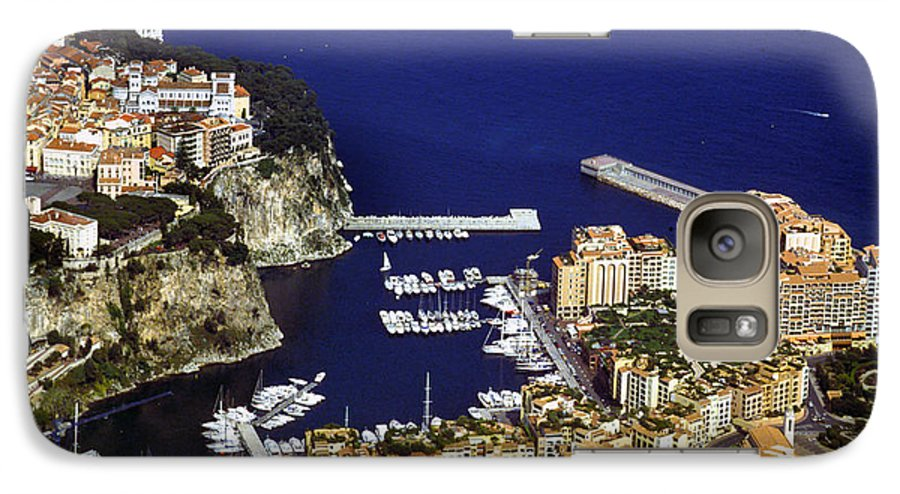 Rich Galaxy S7 Case featuring the photograph Monaco On The Mediterranean by Carl Purcell