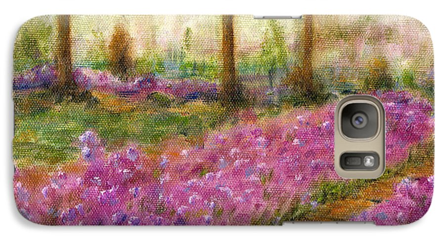 Monet Galaxy S7 Case featuring the painting Monet's Garden In Cannes by Jerome Stumphauzer