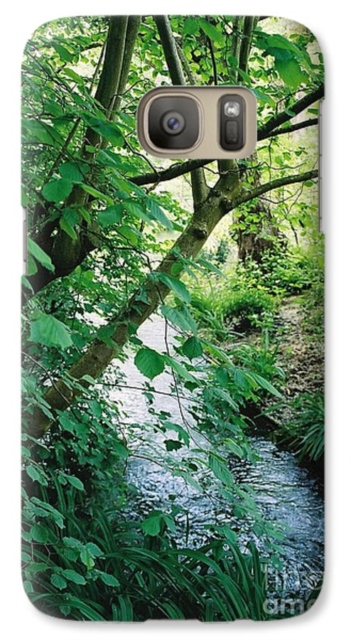 Photography Galaxy S7 Case featuring the photograph Monet's Garden Stream by Nadine Rippelmeyer