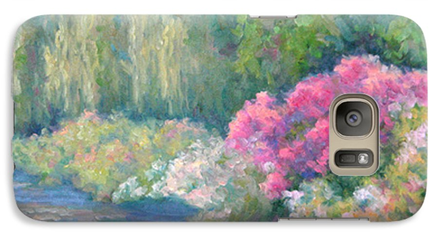 Pond Galaxy S7 Case featuring the painting Monet's Pond by Bunny Oliver
