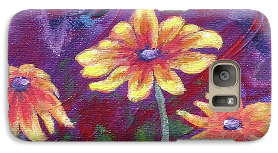 Small Acrylic Painting Galaxy S7 Case featuring the painting Monet's Small Composition by Jennifer McDuffie