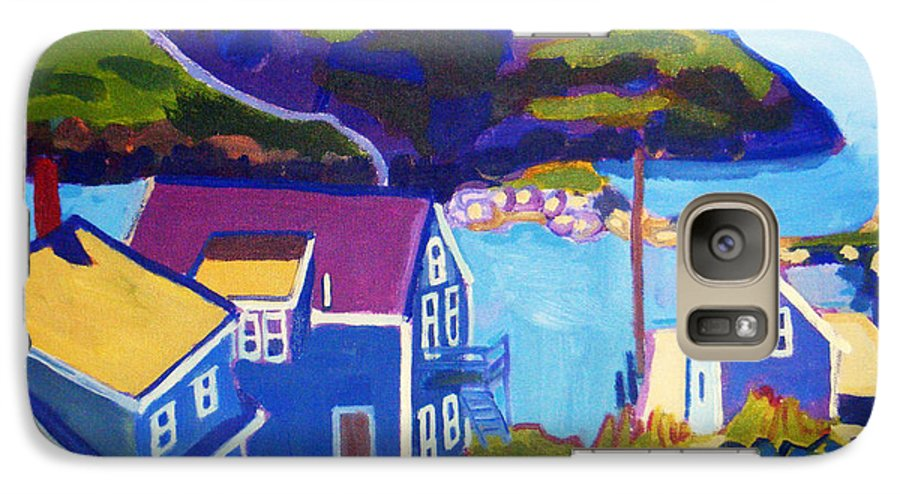 Seascape Galaxy S7 Case featuring the painting Monhegan Harbor by Debra Bretton Robinson