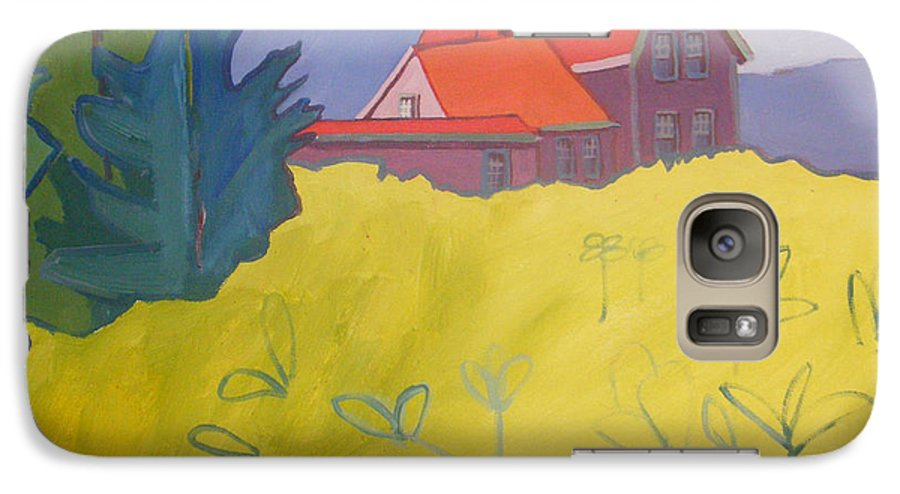 Lighthouse Galaxy S7 Case featuring the painting Monhegan Light by Debra Bretton Robinson