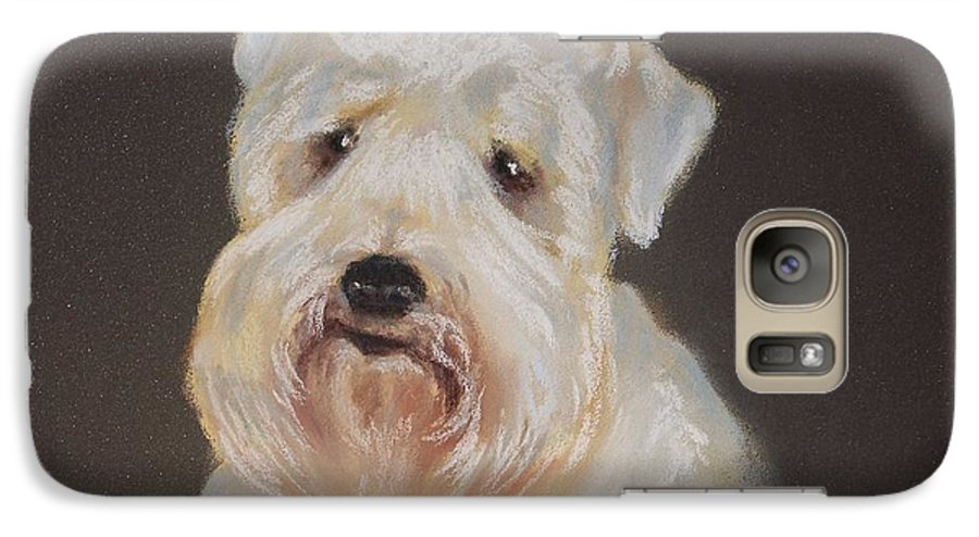 Pet Galaxy S7 Case featuring the painting Monique's Bailey by Carol Mueller