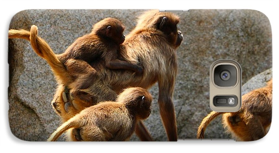Animal Galaxy S7 Case featuring the photograph Monkey Family by Dennis Maier